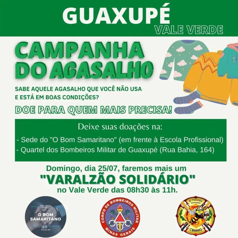 Corpo de Bombeiros e O Bom Samaritano realizarão o terceiro Varalzão Solidário no próximo domingo, em Guaxupé