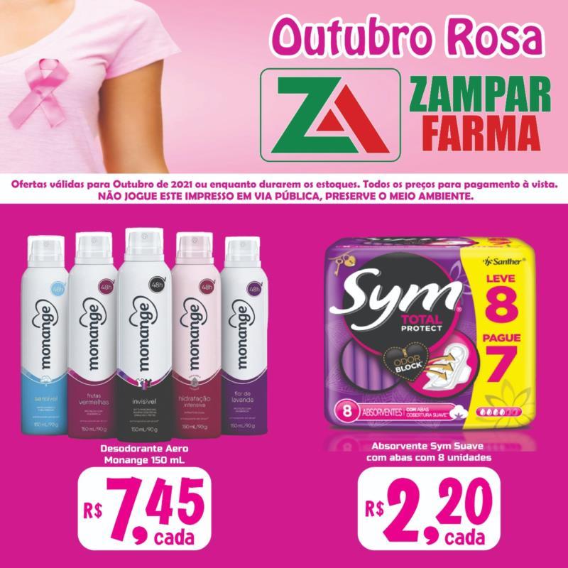 Promoções do mês de outubro da Zampar Farma